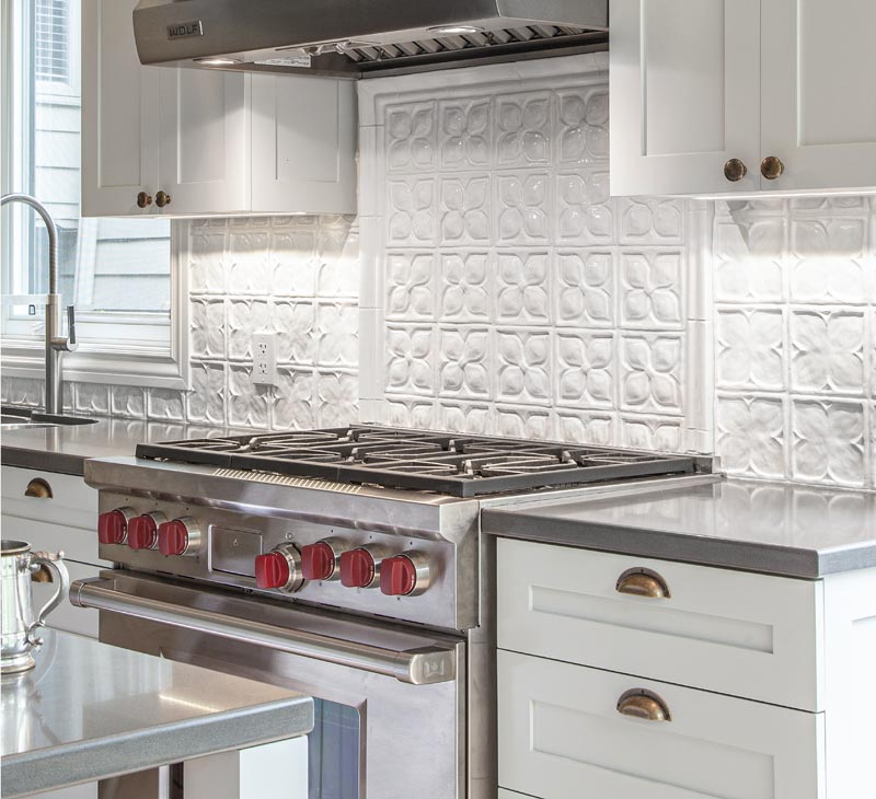 Belmont white handmade decorative backsplash kitchen tiles
