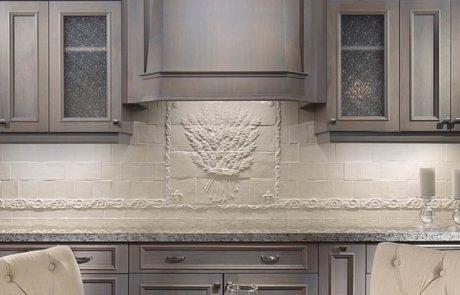 custom made design white kitchen backsplash tile