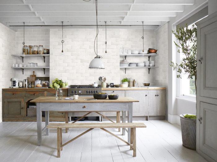 modern backsplash white kitchen tiles