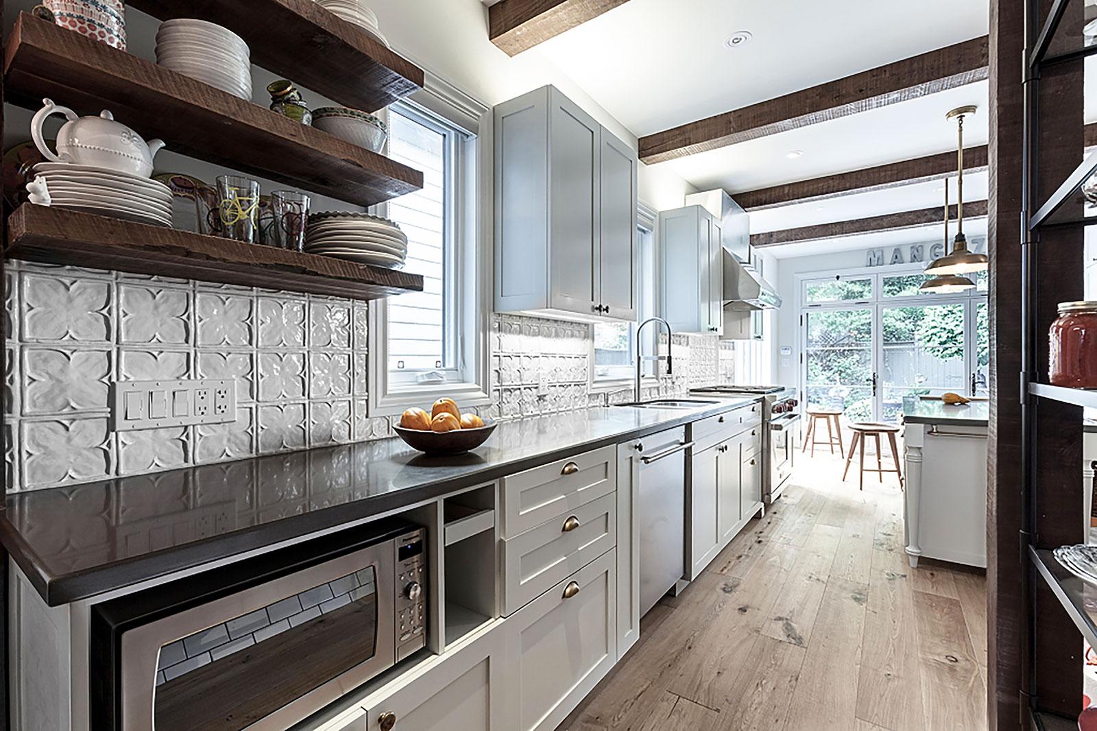 handmade white kitchen backsplash