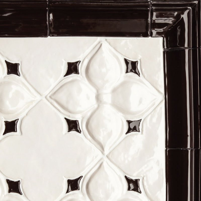 Belmont-1-decorative-handmade-tile-black-white-wall