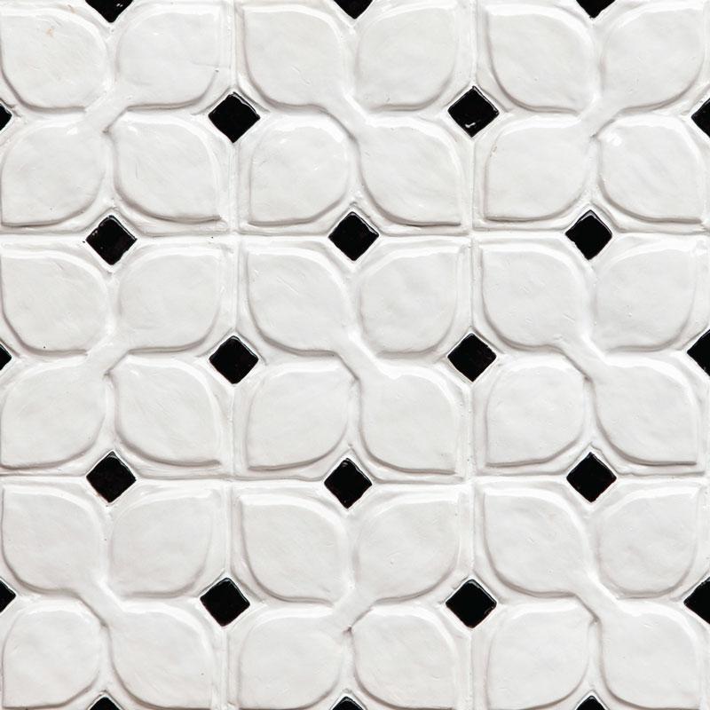 Belmont-1-decorative-handmade-tile-black-white