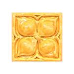 Belmont 1 decorative handmade tile umber yellow