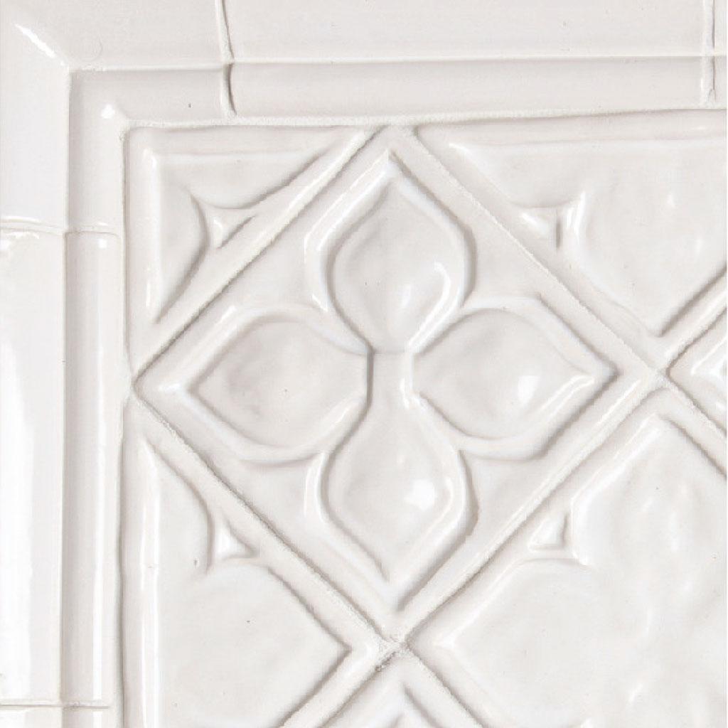 Belmont 1 decorative handmade tile installation