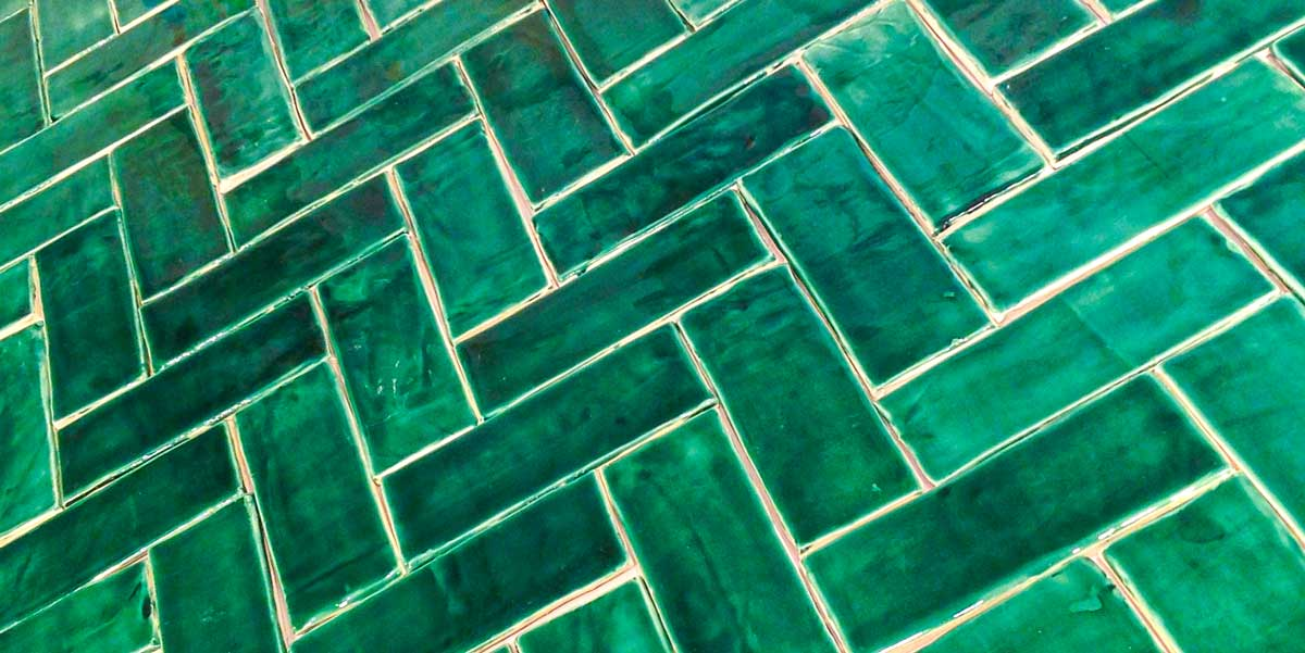 Ceramic Subway tile Emerald green