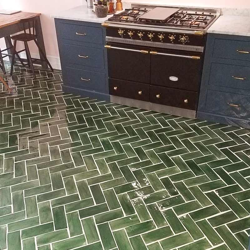 floor-3x8-Subway-tile-emerald-green