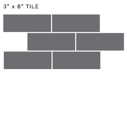 3x8 tile size