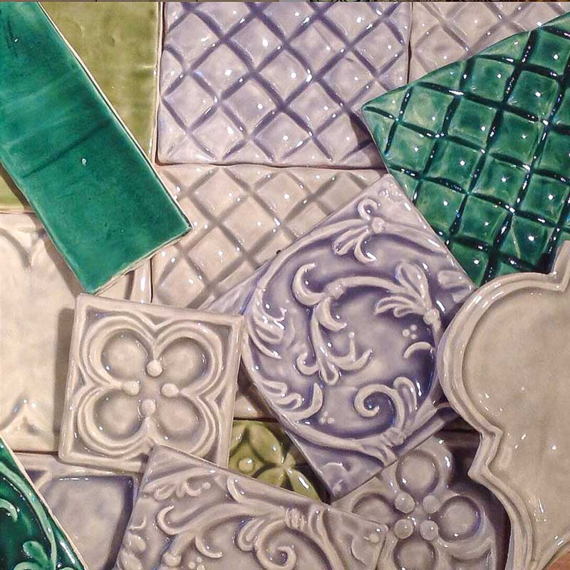 Bantry 1 decorative handmade tile color