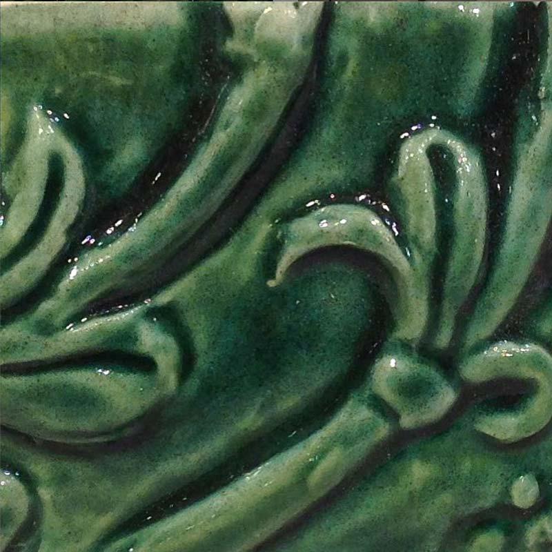 Bantry 1 decorative handmade tile green