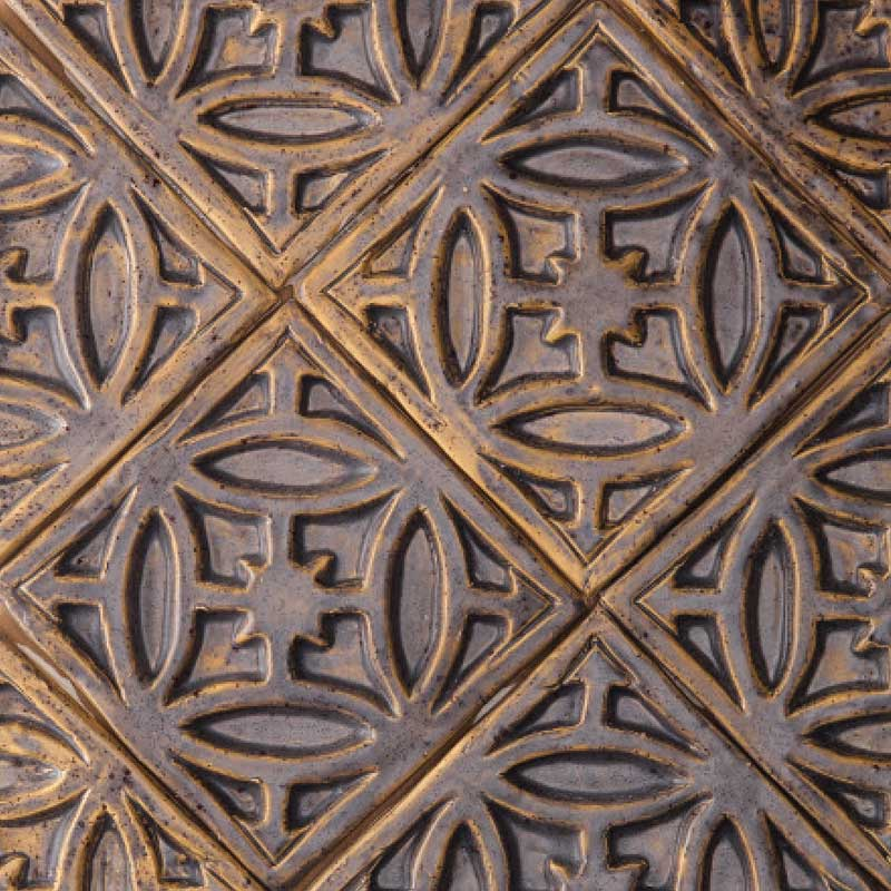 Gate-decorative-handmade-tile-brown