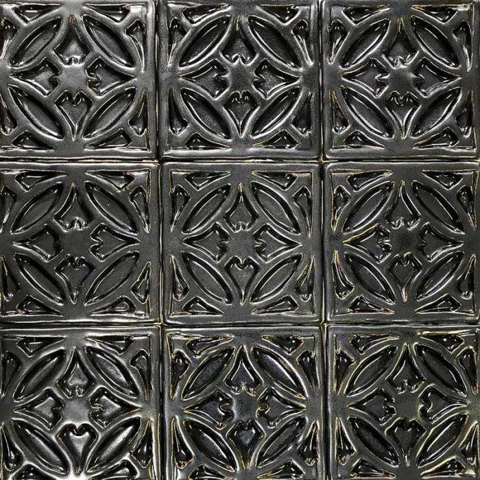 Gate-decorative-handmade-tile metal glaze