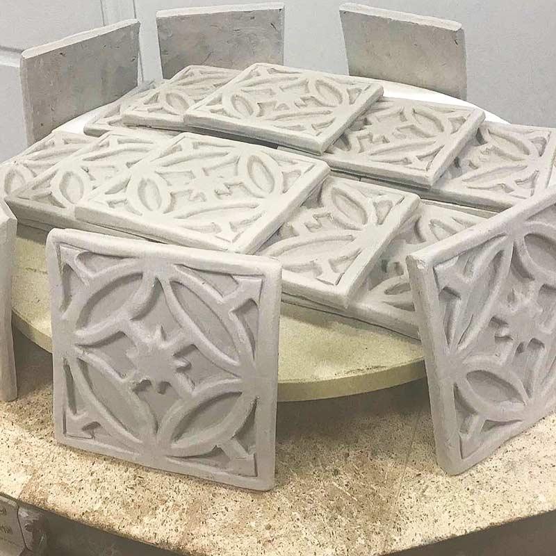 Gate-decorative-handmade-tile production
