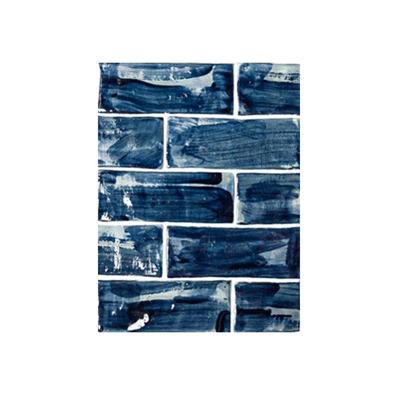"""3"""" x 8"""" Subway Navy Blue Brushed Glaze"""