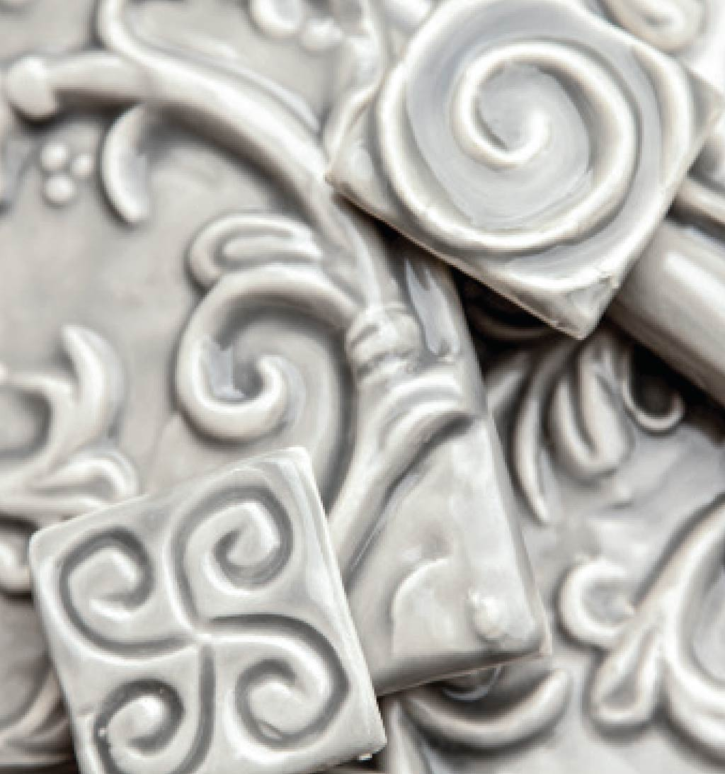 Art of Tiles. Grey glaze