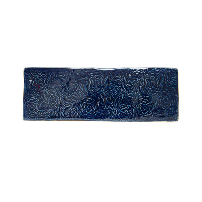 Field-tile-3x8-Navy-blue-floral-textured