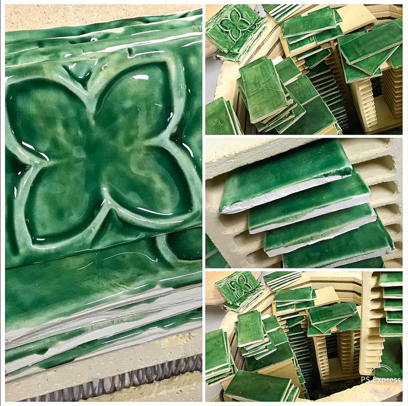 My emerald green tiles at the beginning of their life form