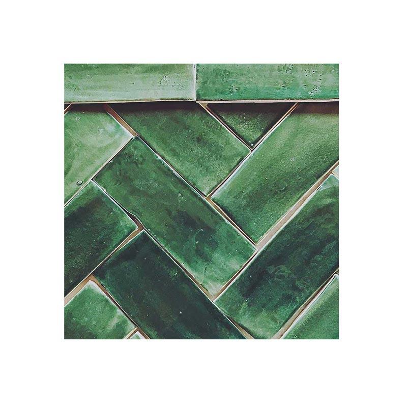 Subway Tile 3 x 8 Hunter-Green-Glaze