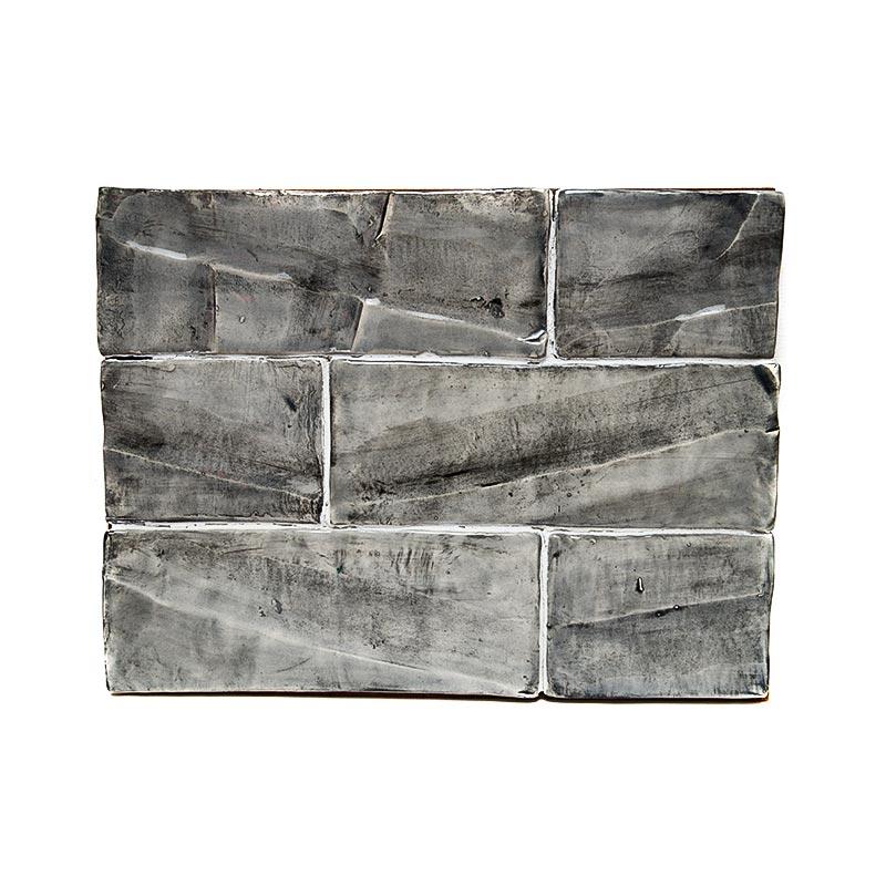 Subway 3 x 8 Textured Charcoal Wash Glaze