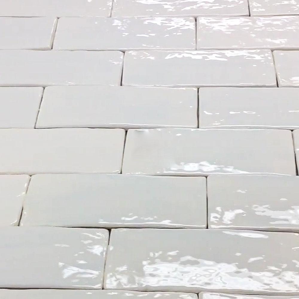 Subway Snow White Glaze Tile 3 x 8