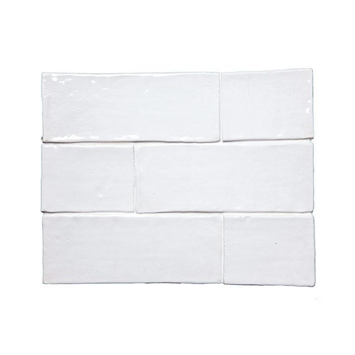 Subway Snow White Glazed Tile 3″x 8″