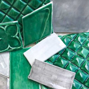 Subway tile emerald green