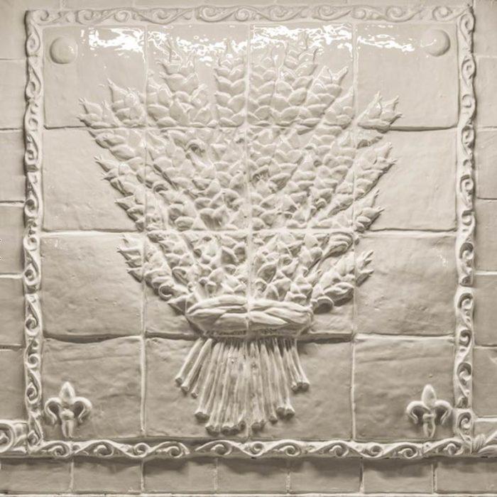 Wheat sheaf tile panel Fox Glove Design in Aurora