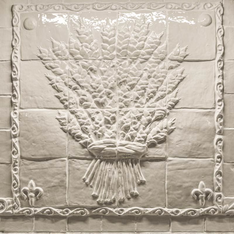 Wheat sheaf tile panel Fox Glove Design in Aurora