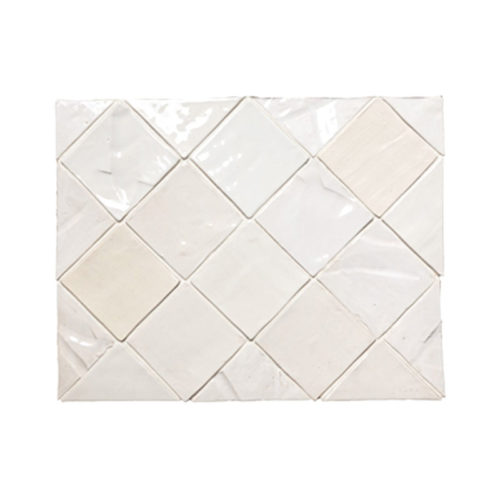 "Mixed White Glazes 4x4"" white textured tile"