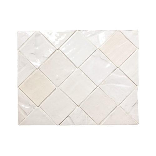 """Mixed White Glazes 4x4"""" white textured tile"""