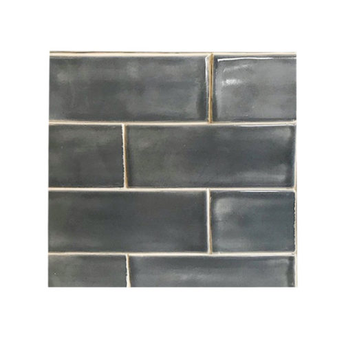 3 x 8 Subway Tile Blue Grey Glaze