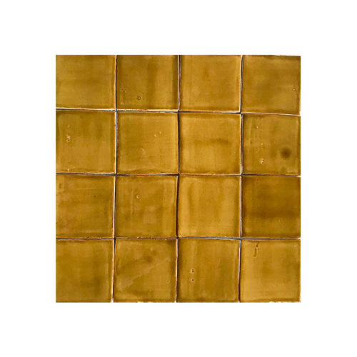"Field tile 4"" x 4"" Burnt Sugar Glazed"
