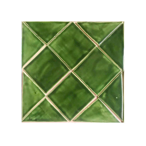 "Field tile 4"" x 4"" Holly Green Glaze"