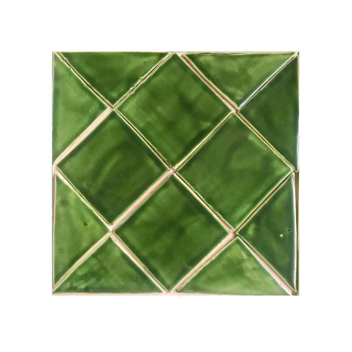 "Field tile 4"" x 4"" Holly Green Glaze"